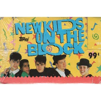 New Kids on the Block 24-Pack Box (1989 Topps)