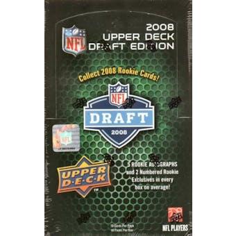 2008 Upper Deck Draft Edition Football Hobby Box