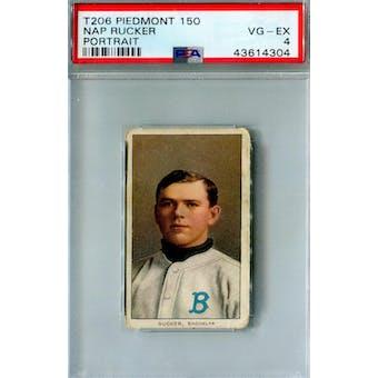 1909-11 T206 Piedmont 150 Nap Rucker Portrait PSA 4 (VG-EX) *4304 (Reed Buy)