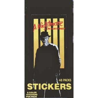 A Nightmare on Elm Street Stickers Wax Box (1984 Comic Images)