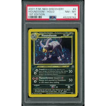 Pokemon Neo Discovery 1st Edition Houndoom 4/75 PSA 8