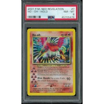Pokemon Neo Revelation Ho-Oh 7/64 PSA 8