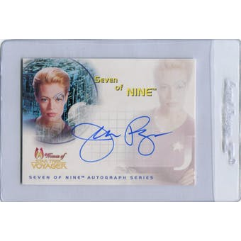 Jeri Ryan 2001 Rittenhouse Women of Star Trek Voyager #SA1 Seven of Nine Autograph (Reed Buy)