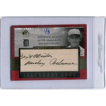 2003 SP Legendary Cuts Autographs #MI Mickey Cochrane #/3 (Reed Buy)