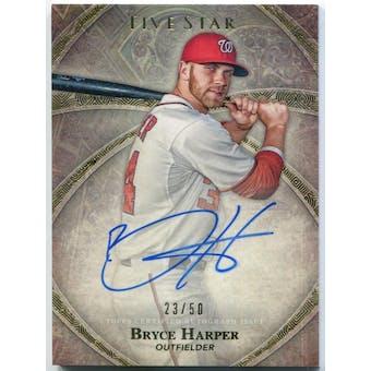 2014 Topps Five Star Autographs #FSABHA Bryce Harper #/50 (Reed Buy)