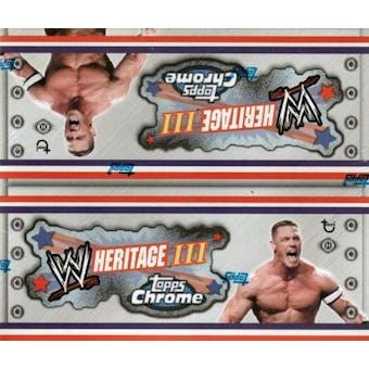 2008 Topps WWE Heritage III Chrome Wrestling Hobby Box