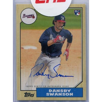 2017 Topps '87 Topps Autographs #1987ADS Dansby Swanson (Reed Buy)