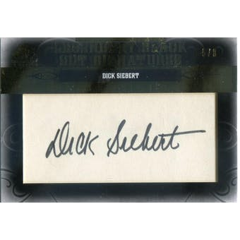 2011 SP Legendary Cuts Legendary Black Signatures #PHKCDS Dick Siebert Autograph #/8 (Reed Buy)
