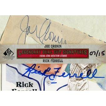 2011 SP Legendary Cuts Legendary Dual Signatures #B030SCF Joe Cronin/Rick Ferrell Autograph #/15 (Reed Buy)
