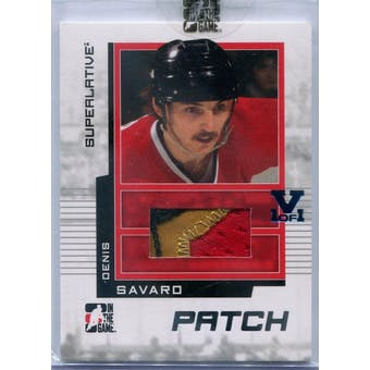 2009/10 In The Game Superlative Game Used Patches Silver #SP18 Denis Savard Vault 1/1 (Reed Buy)