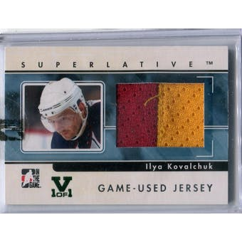 2009/10 In The Game Superlative Game Used Jerseys Silver #GUJ08 Ilya Kovalchuk Vault 1/1 (Reed Buy)