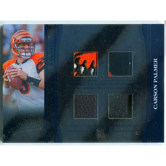 2006 Absolute Memorabilia Tools of the Trade Material Quad Blue #26 Carson Palmer #/10 (Reed Buy)