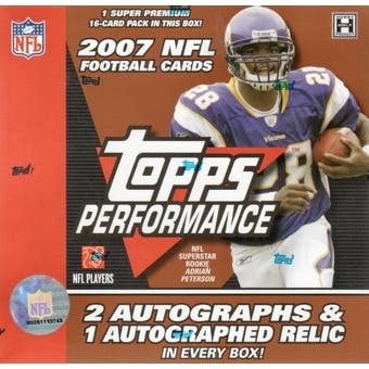 2007 Topps Performance Football Hobby Box