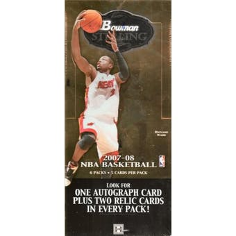 2007/08 Bowman Sterling Basketball Hobby Box