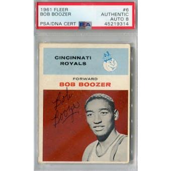 1961/62 Fleer #6 Bob Boozer RC PSA AUTH Auto 8 *9314 (Reed Buy)