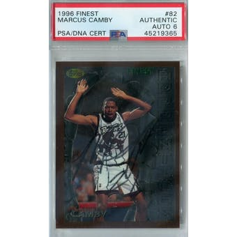 1996/97 Finest #82 Marcus Camby RC PSA AUTH Auto 6 *9365 (Reed Buy)