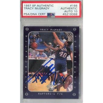 1997/98 SP Authentic #166 Tracy McGrady RC PSA AUTH Auto 10 *9368 (Reed Buy)