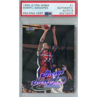 1999/00 Ultra WNBA #1 Sheryl Swoopes PSA AUTH Auto 8 *9370 (Reed Buy)