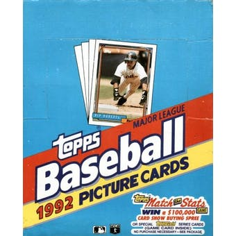 1992 Topps Baseball Rack Box (Reed Buy)