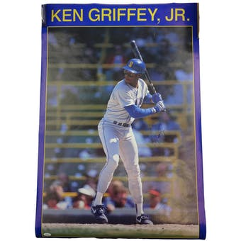 Ken Griffey Jr Autographed Seattle Mariners Poster JSA #HH11507 (Reed Buy)