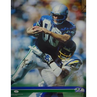 Steve Largent Autographed Seattle Seahawks Poster #HH11506 (Reed Buy)