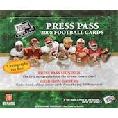 2008 Press Pass Football Hobby Box