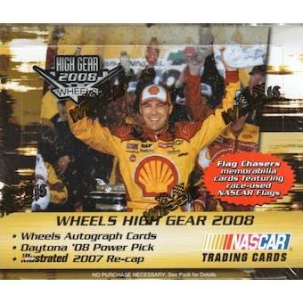 2008 Press Pass Wheels High Gear Racing Hobby Box