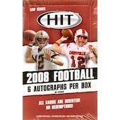 2008 Sage Hit Football Low Series Hobby Box