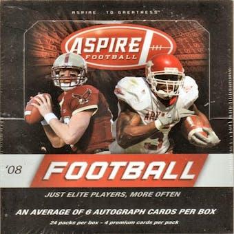 2008 Sage Aspire Football Hobby Box