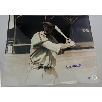 Stan Musial Cardinals Autographed 16x20 Photo PSA/DNA E23385 (Reed Buy)