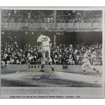 Tracy Stallard Yankees Autographed 16x18 Photo PSA/DNA D96033 (Reed Buy)