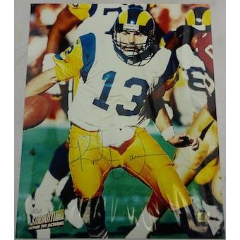 Kurt Warner Rams Autographed 11x14 Photo Topps Vault (Reed Buy)