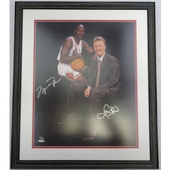 Michael Jordan/Larry Bird Autographed/Framed 16x20 Photo #/123 UDA BAF22309 (Reed Buy)