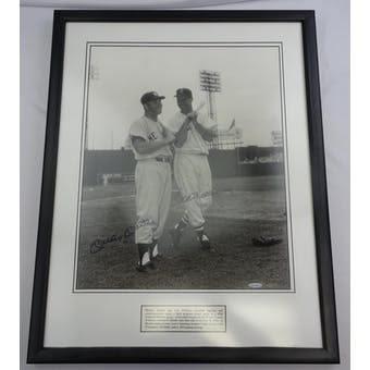 Mickey Mantle/Ted Williams Autographed/Framed 16x20 Photo #/500 UDA UDZ24072 (Reed Buy)