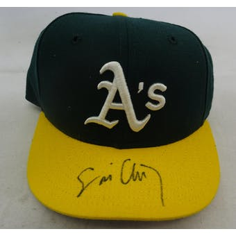 Eric Chavez Autographed Oakland A's Baseball Hat Fleer 1699414 (Reed Buy)