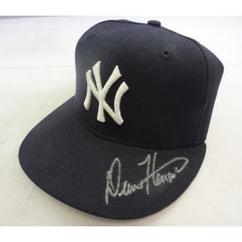 Drew Henson Autographed New York Yankees Baseball Hat Fleer 1575185 (Reed Buy)