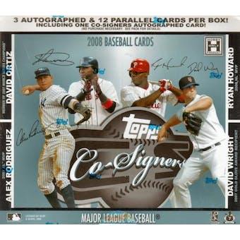 2008 Topps Co-Signers Baseball Hobby Box