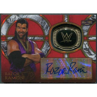 2018 Topps Legends of WWE #HOFRR Razor Ramon Commemorative Hall of Fame Rings Red Auto #1/1