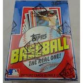 1982 Topps Baseball Wax Box (BBCE) (Reed Buy)