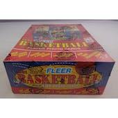 1991/92 Fleer Basketball Rack Box (BBCE) (FASC) (Reed Buy)