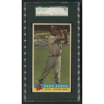 1959 Bazooka Baseball #1 Hank Aaron White Name SGC 84 (NM 7)