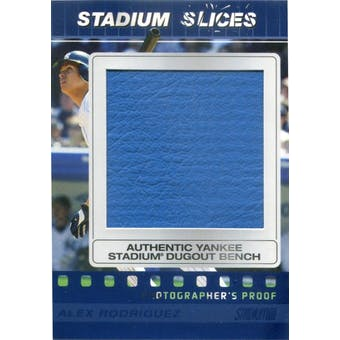 2008 Stadium Club Stadium Slices Photographer's Proof Blue #AR Alex Rodriguez #/25 (Reed Buy)