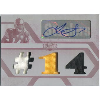 2008 Topps Triple Threads Autographed Relic Printing Plate #TTRA45 Limas Sweed 1/1 (Reed Buy)