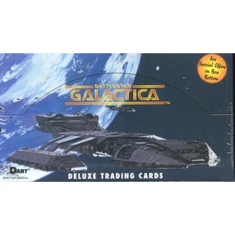 Battlestar Galactica Hobby Box (1996 Dart Flipcards) (Reed Buy)