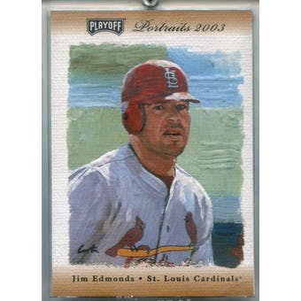 2003 Playoff Portraits Autographs Bronze #60 Jim Edmonds #/9 (Reed Buy)