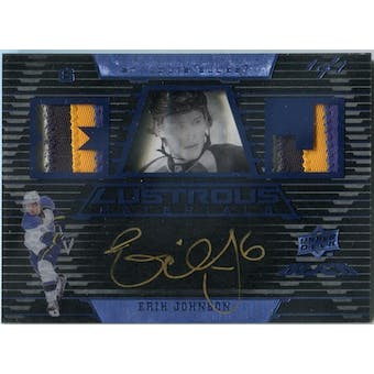 2008/09 Upper Deck Black Lustrous Materials Autographs Jersey Blue #LM2EJ Erik Johnson 1/1 (Reed Buy)