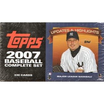2007 Topps Updates & Highlights Factory Set Baseball (Box)