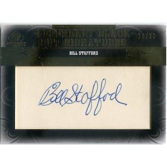 2011 SP Legendary Cuts Legendary Black Signatures #NYBS Bill Stafford #/16 (Reed Buy)