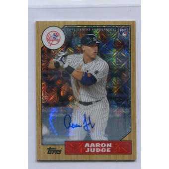 2017 Topps '87 Topps Silver Pack Chrome Autographs #87AAJ Aaron Judge #/199 (Reed Buy)