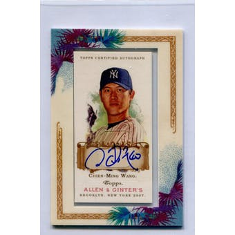 2007 Topps Allen & Ginter Autographs #CMW Chien-Ming Wang (Reed Buy)